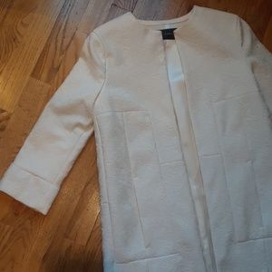 Offers!! Zara White Lace Coat w Pockets